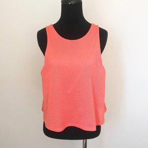 Lucy Salmon/Pink Mesh Workout Top